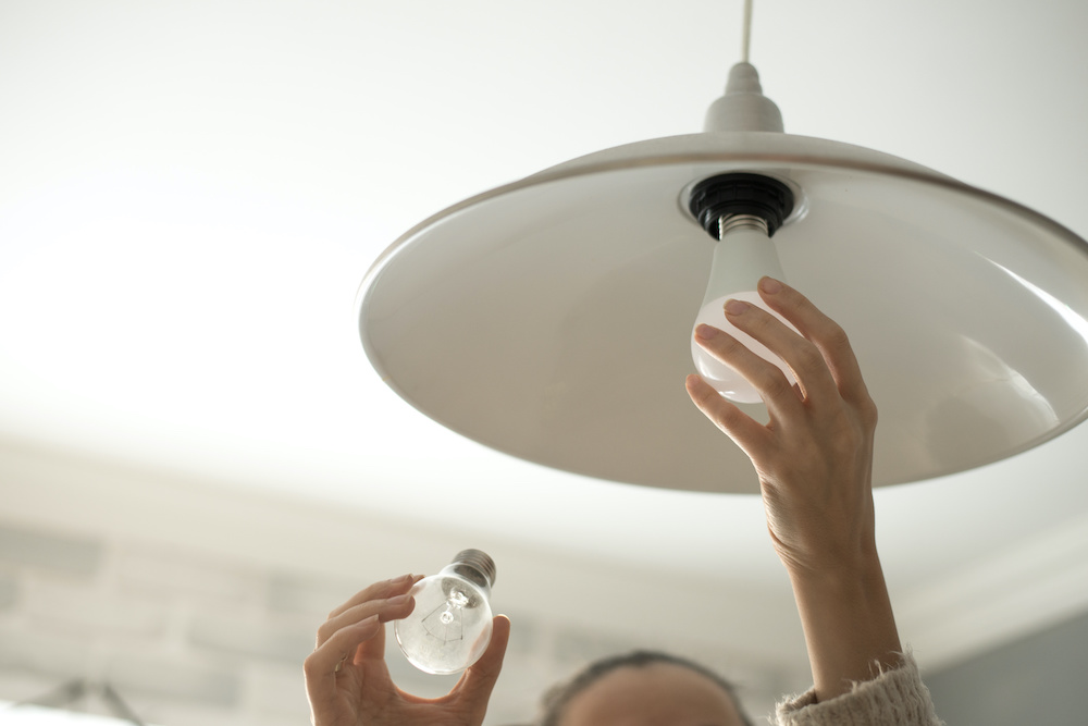 how to change office lights